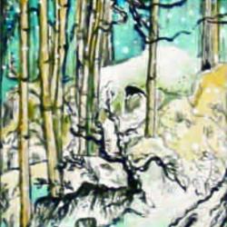 batik painting on canvas