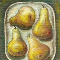 2-pears-painting