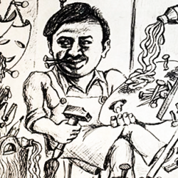 Painter and Puppet Maker Vladimir Yakubovsky
